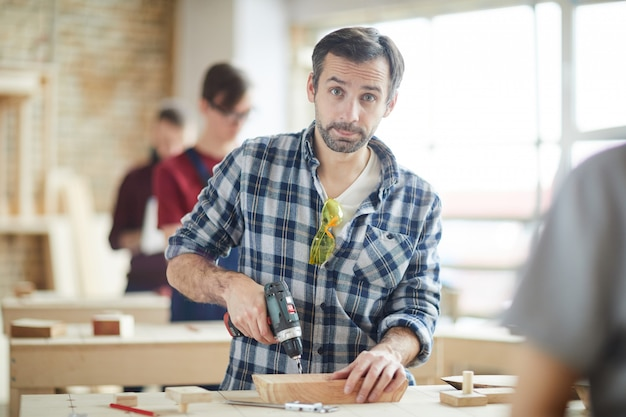 Man working in carpentry