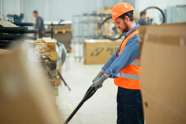 Man working in safety equipment