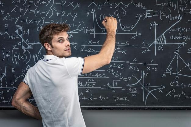 Man working in school