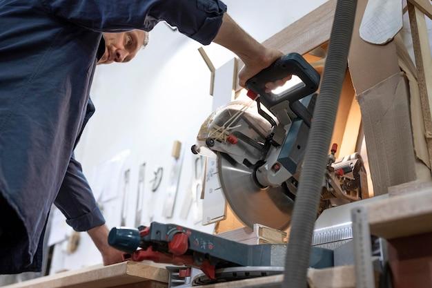 Man working in a wood workshop