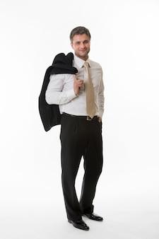 비즈니스 정장 성공적인 점원 비즈니스 사람들의 관리자