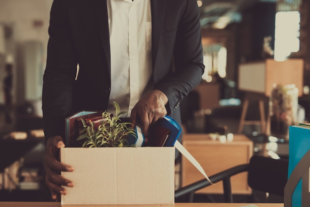Manager leaves workplace with office box