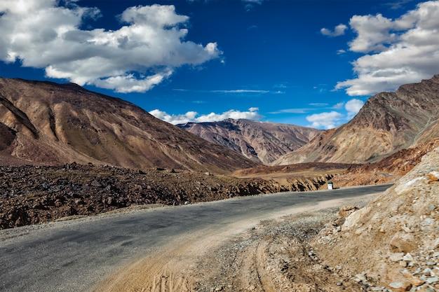 Manali-leh road in himalayas