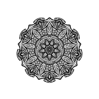 Дизайн мандалы с рисованной мандалой восточный узор уникальный дизайн с лепестковым цветком