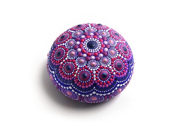 Mandala stone,  isolated