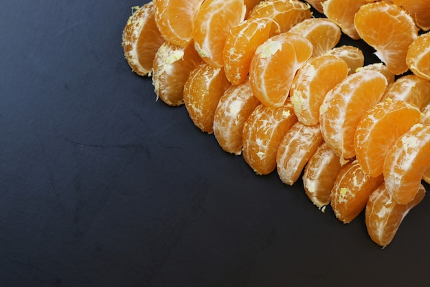 만다린 과일 분리 블랙