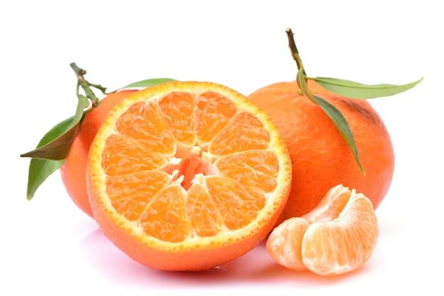 Mandarin fruit isolated