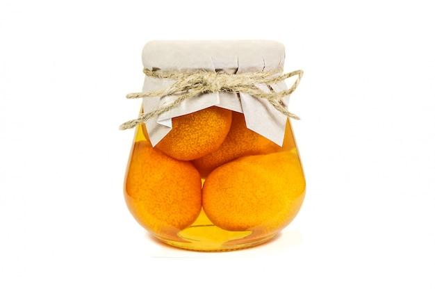 Mandarin jam isolated on white