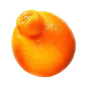 マンダリン、白い背景で隔離のタンジェリン柑橘系の果物。クリッピングパス付き。