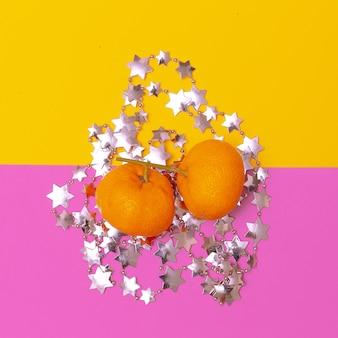 Mandarins. minimal. new year concept