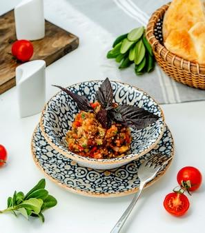 Mangal salad on the table