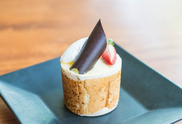 マンゴーとパッションフルーツムースケーキ