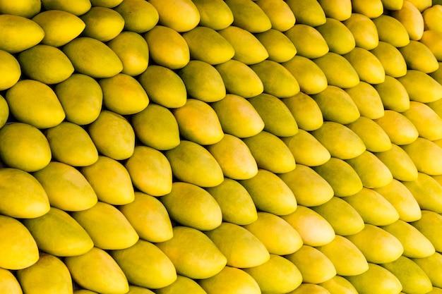 거리 시장에서 신선한 노란색 망고 과일과 함께 망고 축제 스탠드