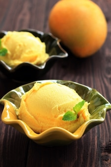 Mango fruit ice cream.