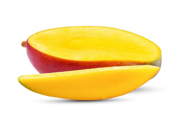 白い壁にマンゴーフルーツ