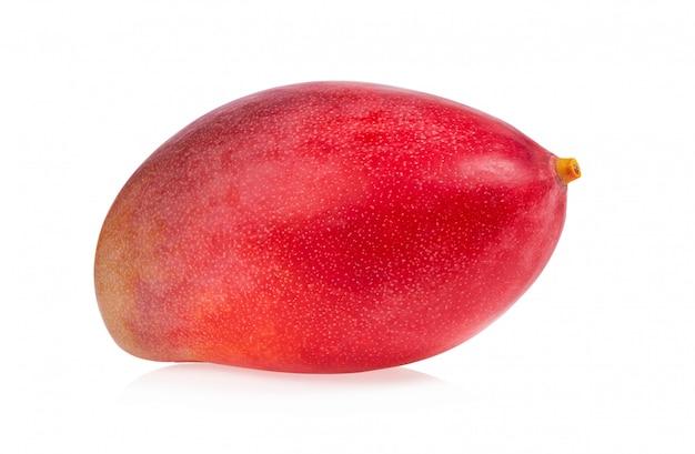 白で隔離されるマンゴー