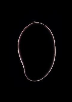 Mango outline over black