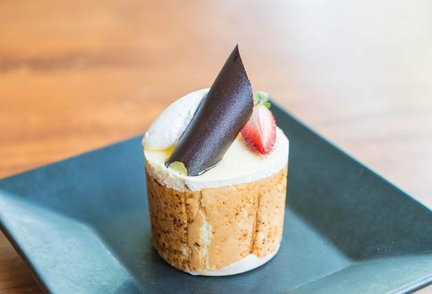 Mango and passion fruits mousse cake