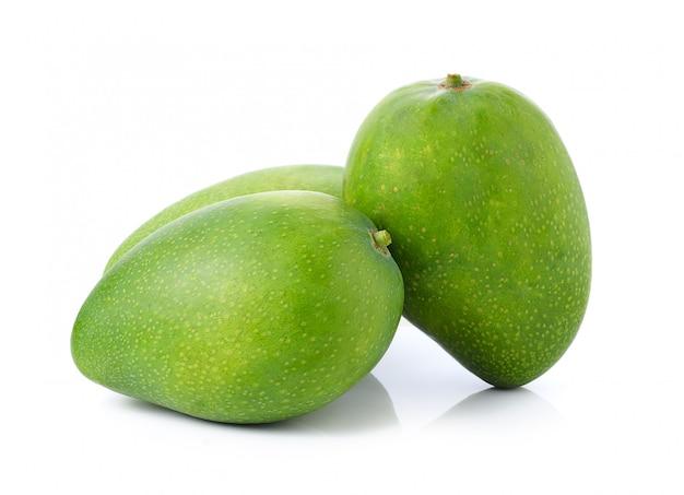 Mango on white space