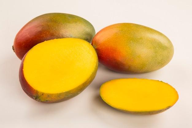 Mango on a white table. fresh fruits