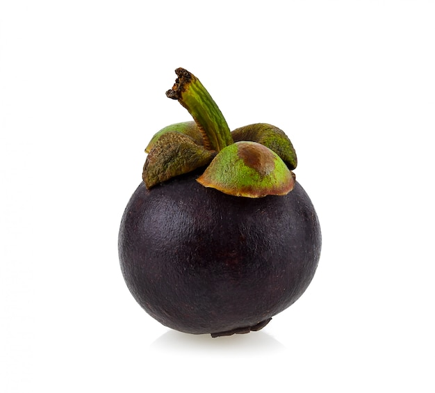 Mangosteen on a bright background