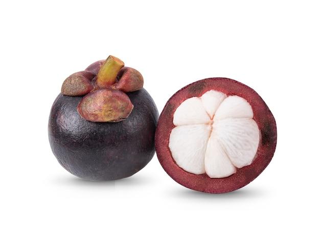 Mangosteen fruit fresh isolated on white background
