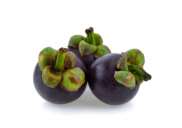 Mangosteen on a white background