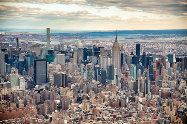 헬리콥터에서 맨하탄 공중보기