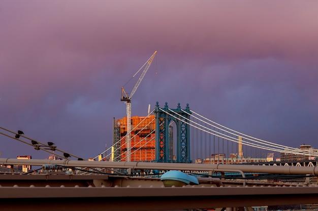 Manhattan bridge new york ny nyc from brooklyn usa