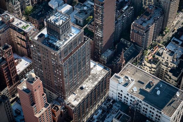 Вид сверху зданий мидтауна манхэттена. нью-йорк. Premium Фотографии