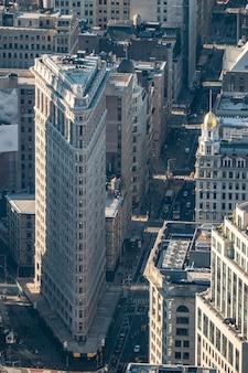 Вид сверху зданий мидтауна манхэттена. нью-йорк.