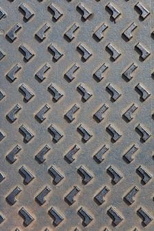 マンホールの蓋メタリックの背景