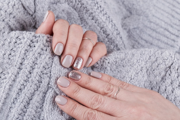 Manicured woman hands