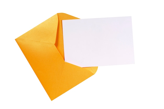 Manila brown envelope with blank letter card