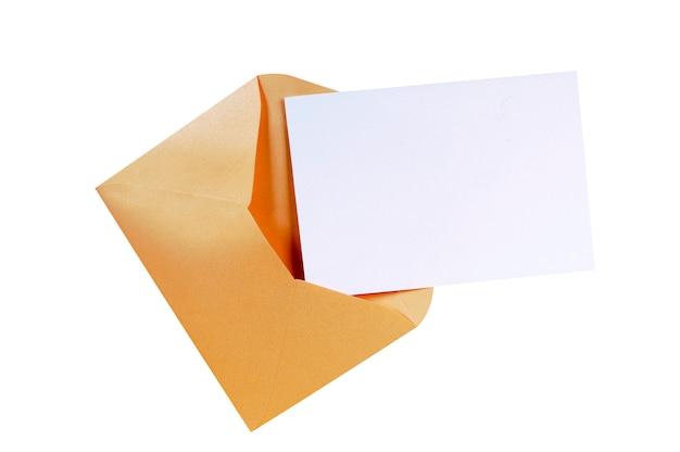 Манильский коричневый конверт с пустой карточкой письма