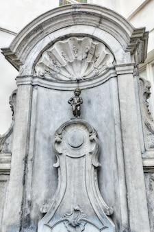 Manneken pis statue in the brussels  european unions capital