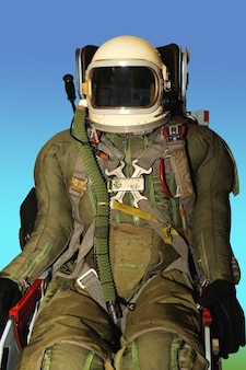 Mannequin in an  jumpsuit of a military pilot