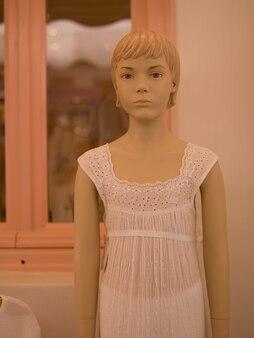 Mannequin outside a store in mykonos greece