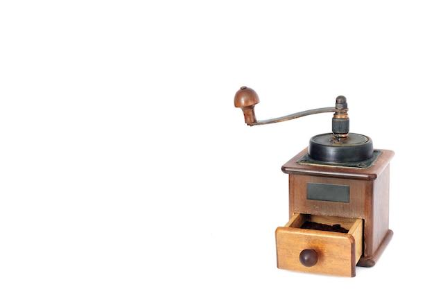 手動コーヒーグラインダー。古物商