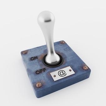 分離されたメールを送信するための手動スイッチ