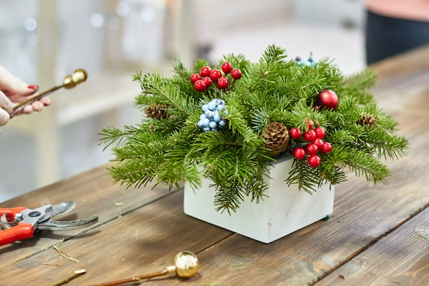 Manufacturer of christmas decor box with twigs