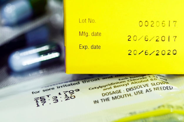 Manufacturing date and expiry date