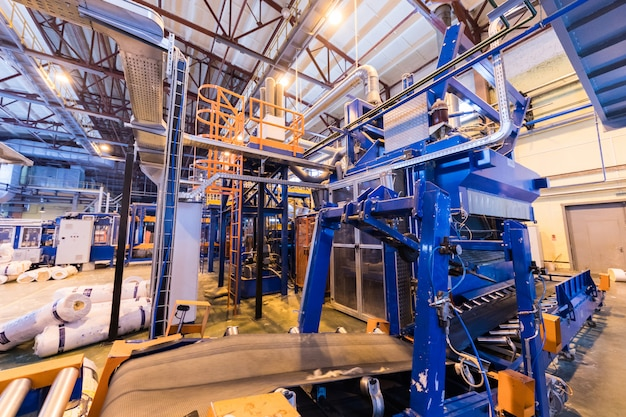 Manufacturing factory, modern high-tech production