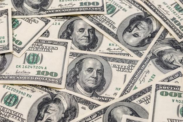 많은 100 달러 지폐 프리미엄 사진