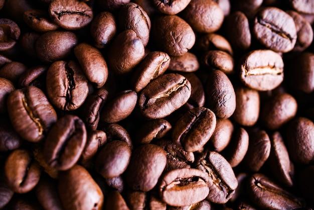 Много ароматных кофейных зерен