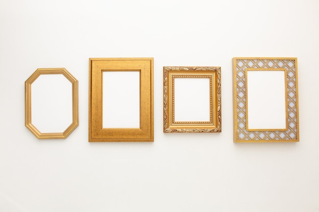Many beautiful frames on a white background with a place for your text. high quality photo