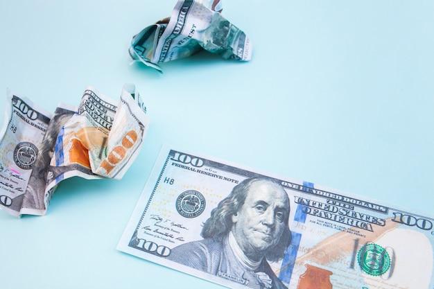 Many bills of 100 dollars