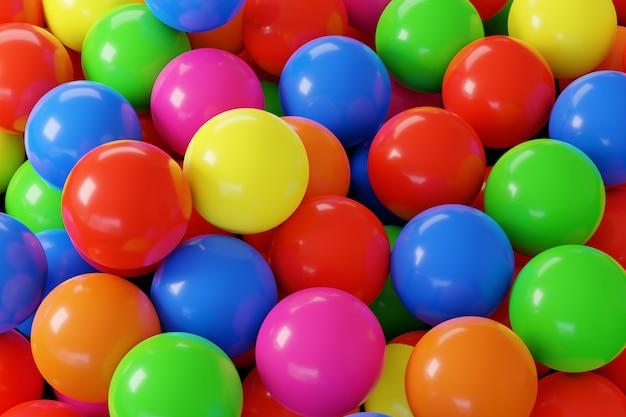 Многие красочные шары в бассейне с шарами