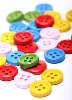 Many colorful buttons