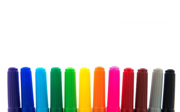 Много красочных фетровых наконечников
